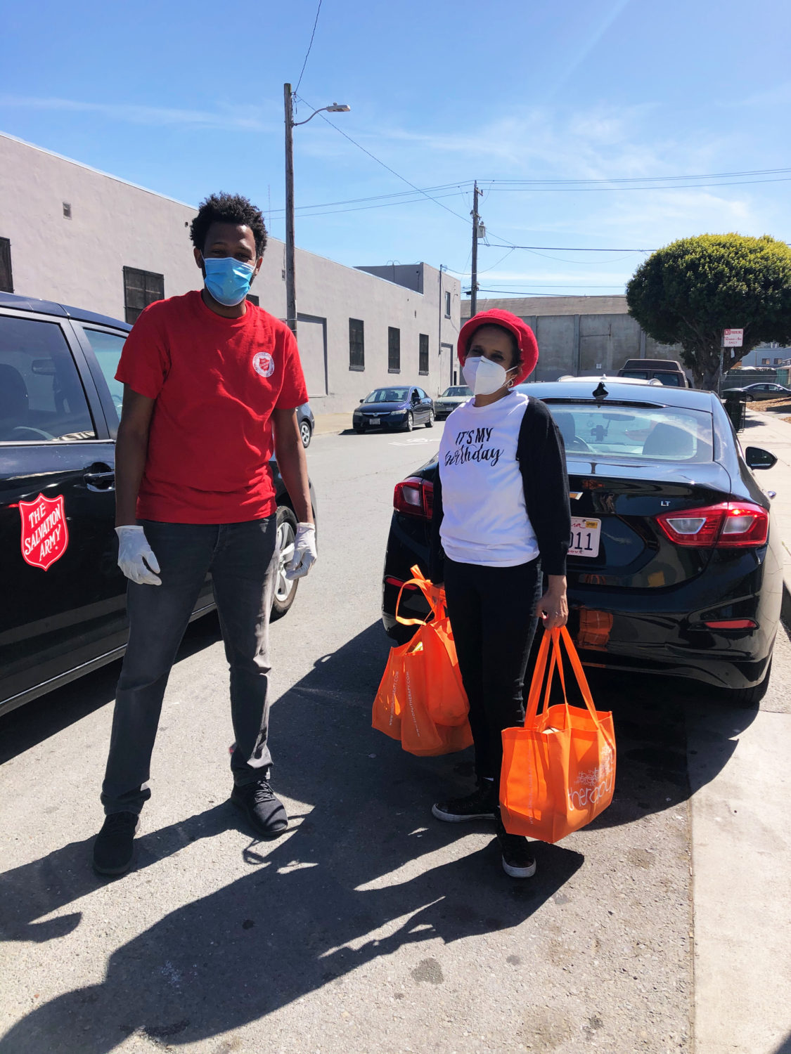 Beds-4-Bayview-Gloria-Berry-coordinates-meal-delivery-with-Theodore-Ellington-Salvation-Army, Community seizes MLK Park as immediate COVID relief for unhoused neighbors, Local News & Views