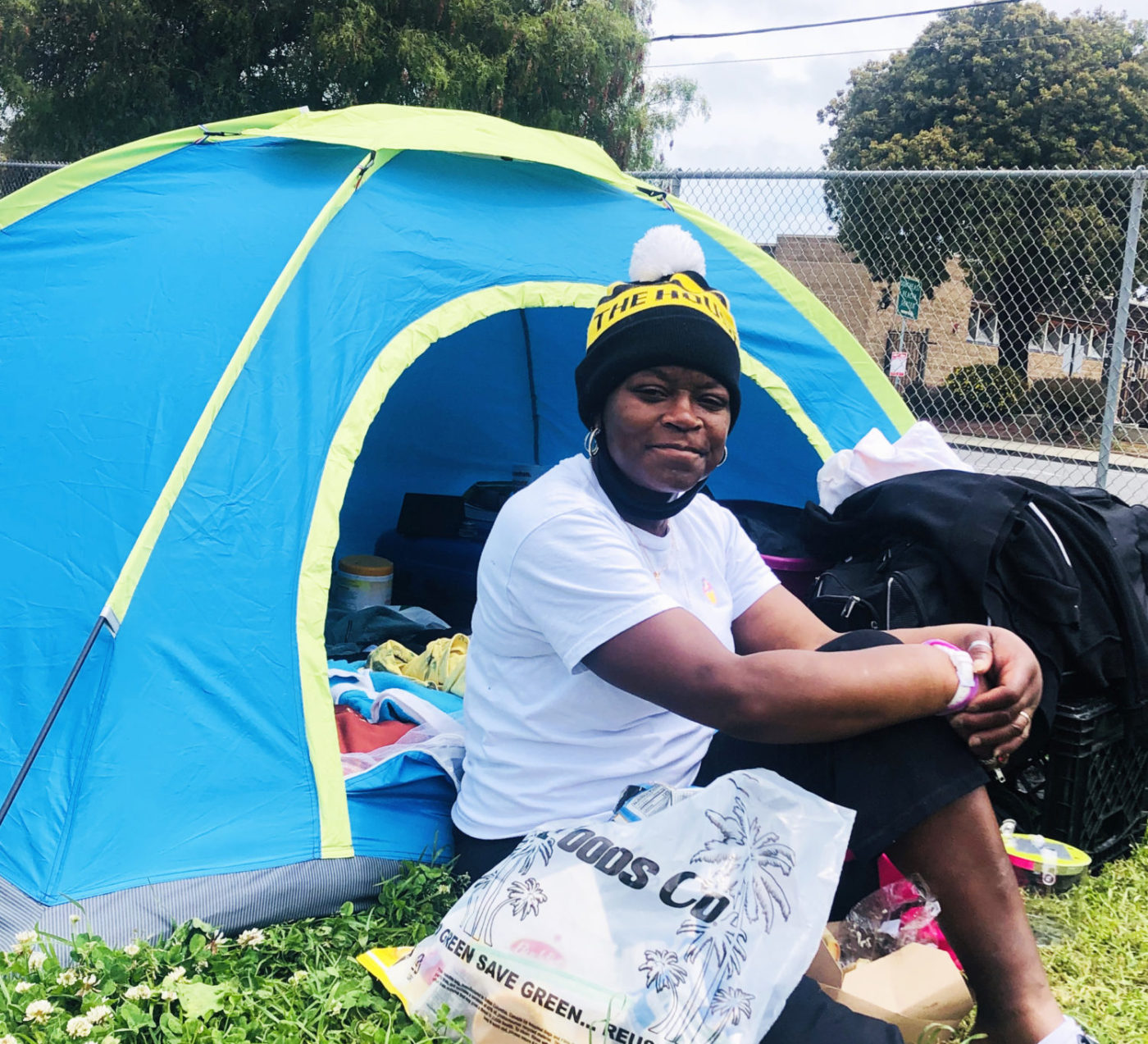 Beds-4-Bayview-MLK-Park-resident-Beth-1400x1273, Community seizes MLK Park as immediate COVID relief for unhoused neighbors, Local News & Views