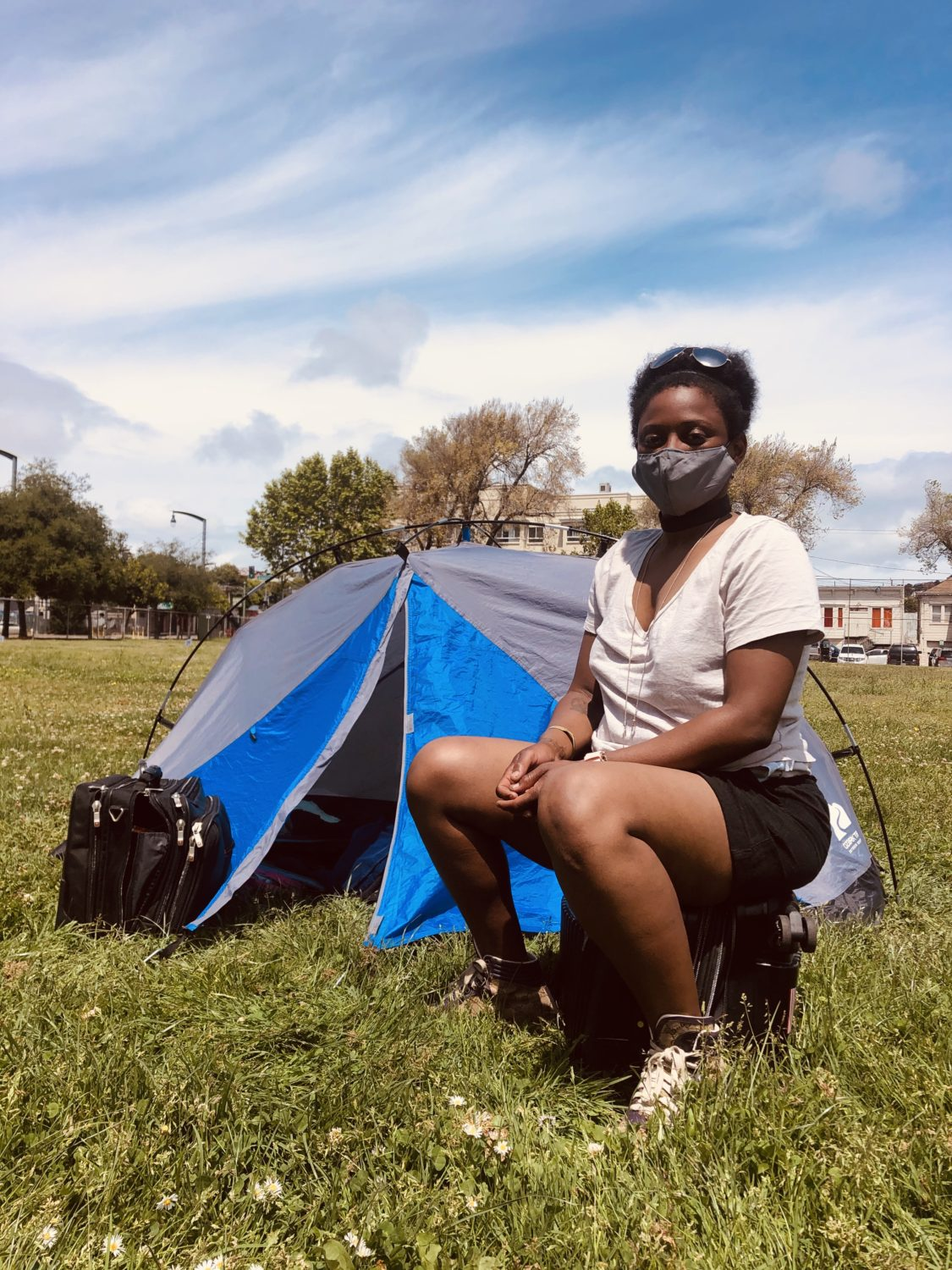 Beds-4-Bayview-MLK-Park-resident-Tamara, Community seizes MLK Park as immediate COVID relief for unhoused neighbors, Local News & Views
