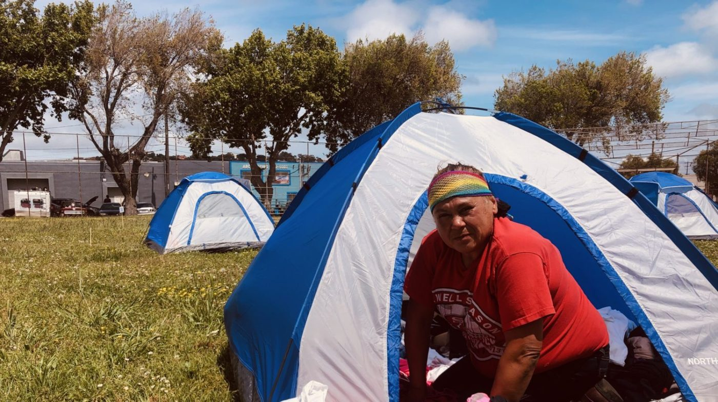 Beds-4-Bayview-MLK-Park-resident-Tina-Marie-1400x784, Community seizes MLK Park as immediate COVID relief for unhoused neighbors, Local News & Views