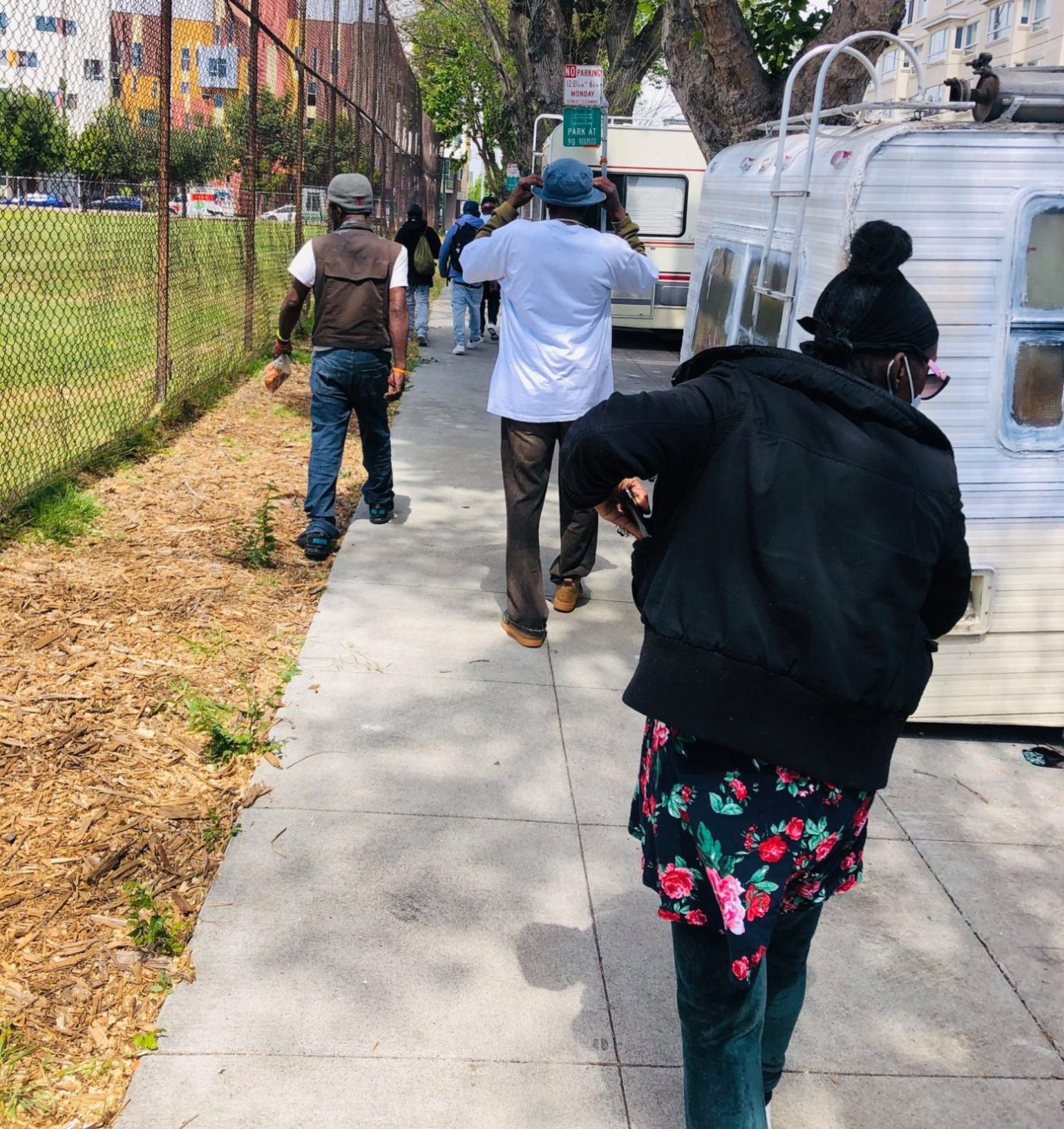 Beds-4-Bayview-Michael-Bennett-of-Bayview-Senior-Services-at-Rosa-Parks-Senior-Center-leads-'Wellness-Walk'-around-MLK-Park-1400x1485, Community seizes MLK Park as immediate COVID relief for unhoused neighbors, Local News & Views