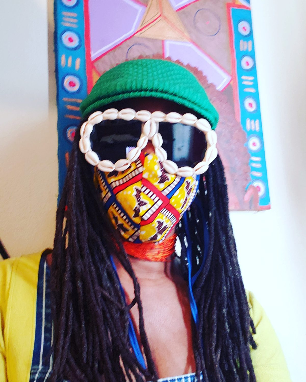 Karen-Seneferu-masked-goggled-0520, Was the quarantine good for creativity or nah? Bay Area visual and performing artists speak, Local News & Views