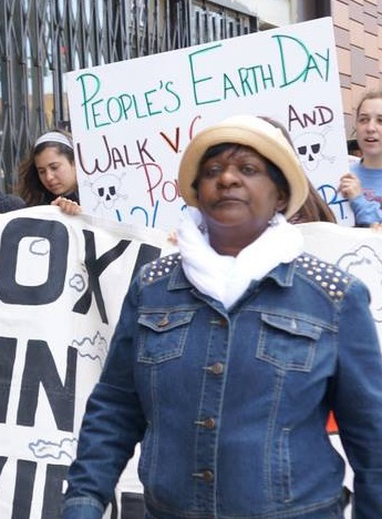 Marie-Harrison-leads-march-on-Peoples-Earth-Day-by-Greenaction, From mother to martyr: Remembering Marie Harrison on the anniversary of her 'very last breath', Culture Currents