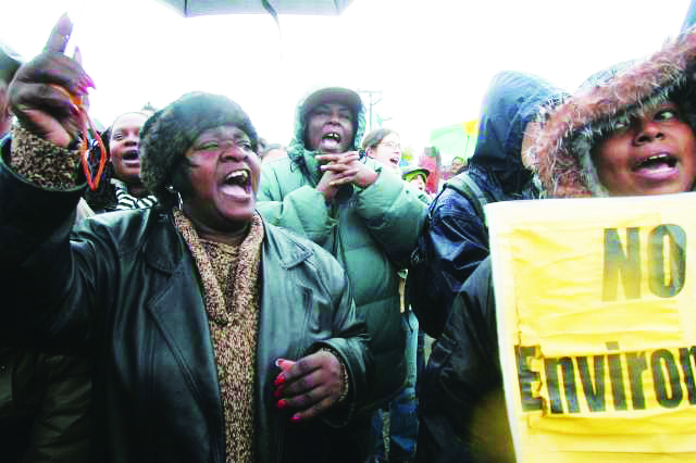 Marie-Harrison-leads-protest-ag-PGE-plant-2004-by-Mike-Kepka-SF-Chron, From mother to martyr: Remembering Marie Harrison on the anniversary of her 'very last breath', Culture Currents