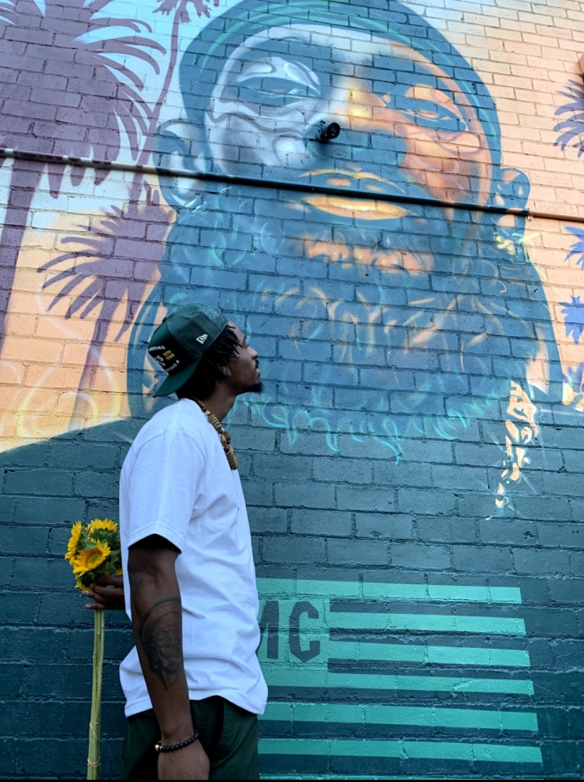 Muralist-Timothy-B-painted-Nipsey-Hussle-mural-on-Grand-Ave-near-Lake-Merritt-Oakland, Was the quarantine good for creativity or nah? Bay Area visual and performing artists speak, Local News & Views