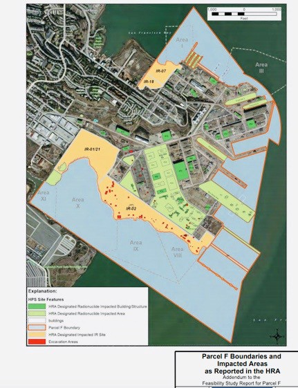 Hunters-Point-Shipyard-Parcel-F-Boundaries-and-Impacted-Areas, The Hunters Point Community Biomonitoring Program is establishing cause and effect relationships between environmental toxins and expressions of disease, Local News & Views