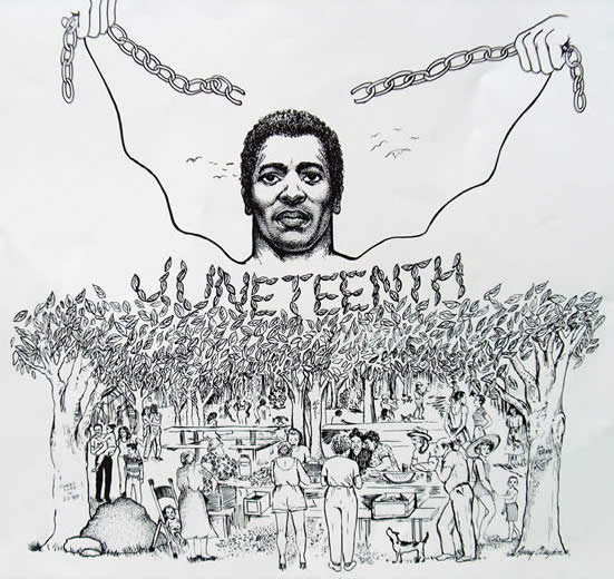 Juneteenth-drawing, Juneteenth 2020: Let's adopt the mantra of Black unity and Black love, Behind Enemy Lines Culture Currents