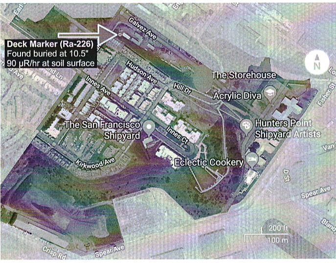 Map-of-Lennar's-Shipyard-development-showing-location-of-radium-emitting-deck-marker, The Hunters Point Community Biomonitoring Program is establishing cause and effect relationships between environmental toxins and expressions of disease, Local News & Views