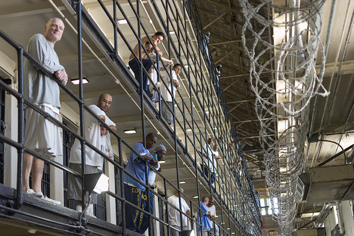 San-Quentin-general-population-tiers-1016-by-Tam-Duong-Jr.-The-Pioneer-CSUEB, Gov. Newsom made a cynical gamble on prisons during the pandemic – and Californians will pay with their lives, Behind Enemy Lines