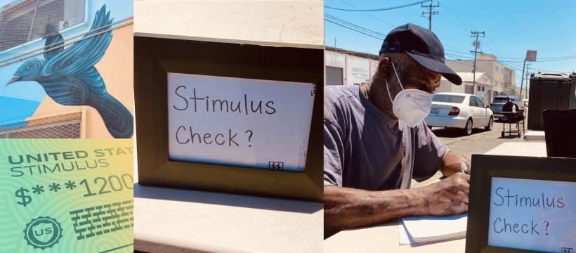 Debray-Carpenter-Fly-Benzo-team-helpdesk-to-get-stimulus-checks-outside-Mother-Browns-070420, Pop-up clinic to assist people in getting stimulus checks: Every Saturday in Hunters Point, Local News & Views