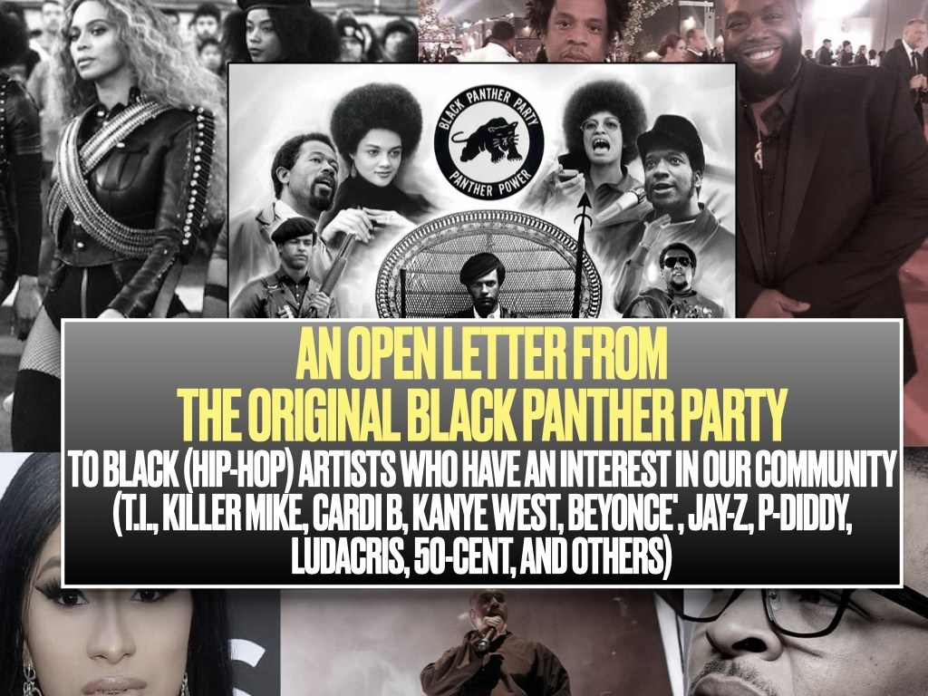 An-Open-Letter-from-the-Original-Black-Panther-Party-graphic-by-imixwhatilike.org_, Open letter from original Black Panther Party members to Black Hip-Hop artists who have an interest in our community, Culture Currents