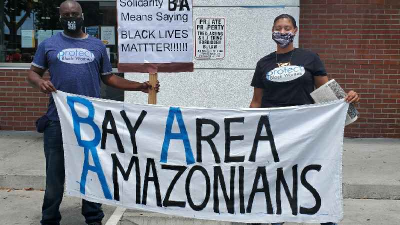 Bay-Area-Amazonians-2, Uber and other gig employers threaten to shut down operations soon, pushing Yes on Prop 22 with millions, Local News & Views