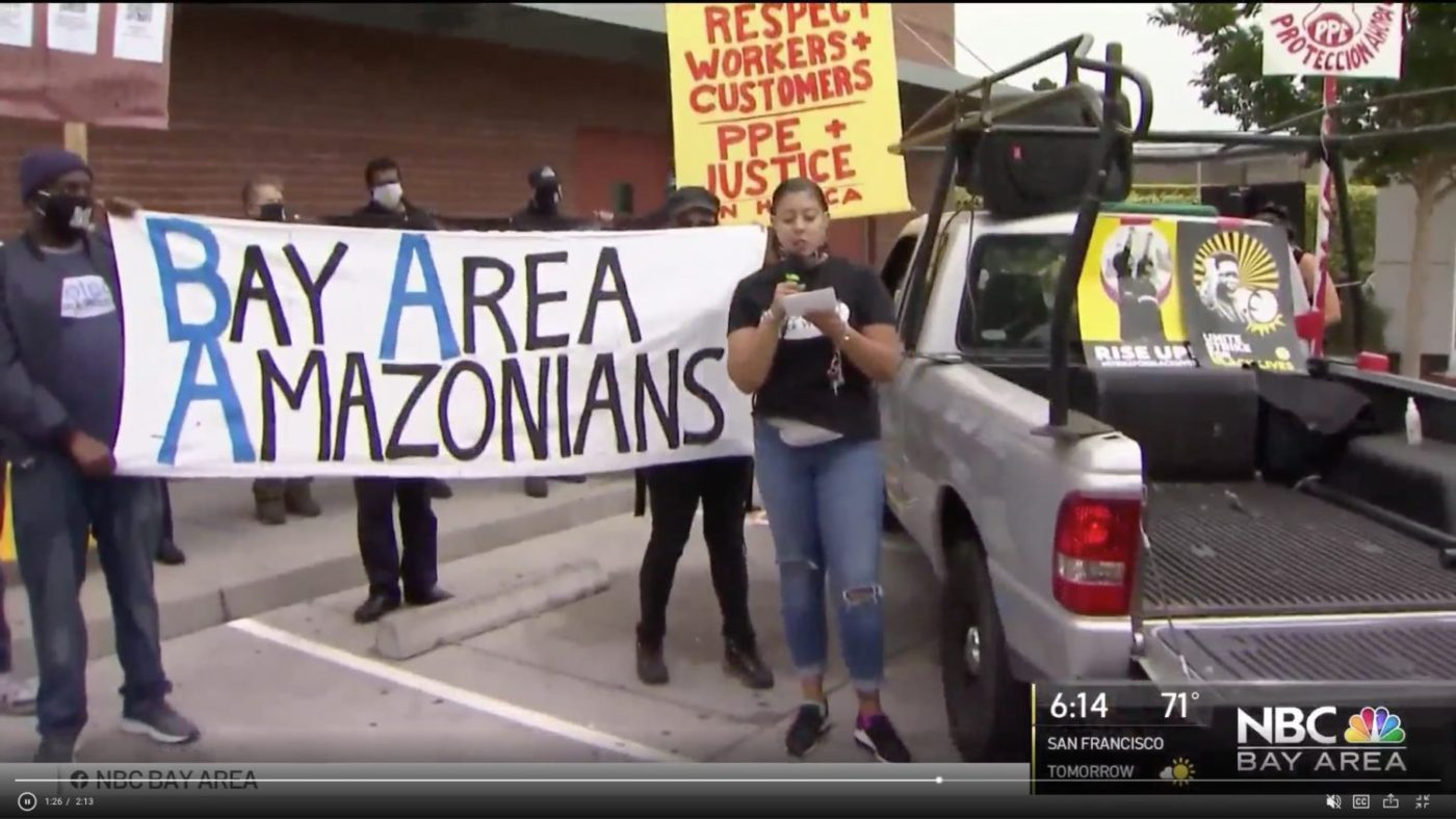 Bay-Area-Amazonians-by-NBC-Bay-Area-1400x788, Uber and other gig employers threaten to shut down operations soon, pushing Yes on Prop 22 with millions, Local News & Views