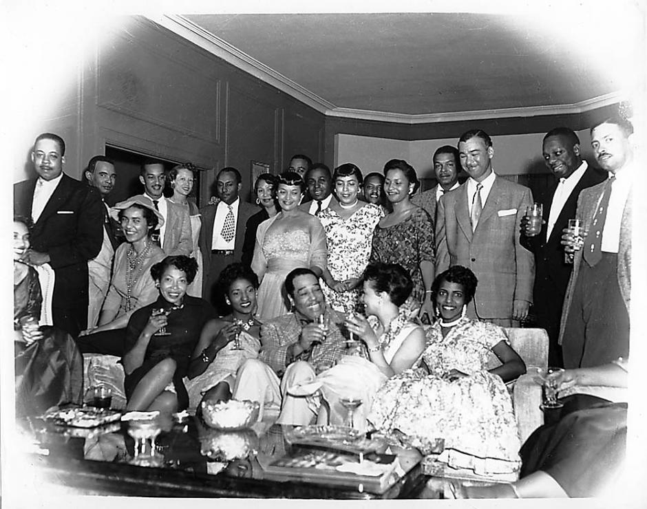 Duke-Ellington-friends-in-Manor-Plaza-Hotel-Fillmore-1950s-by-Steve-Jackson-Jr., Fillmore: Harlem of the West, Culture Currents