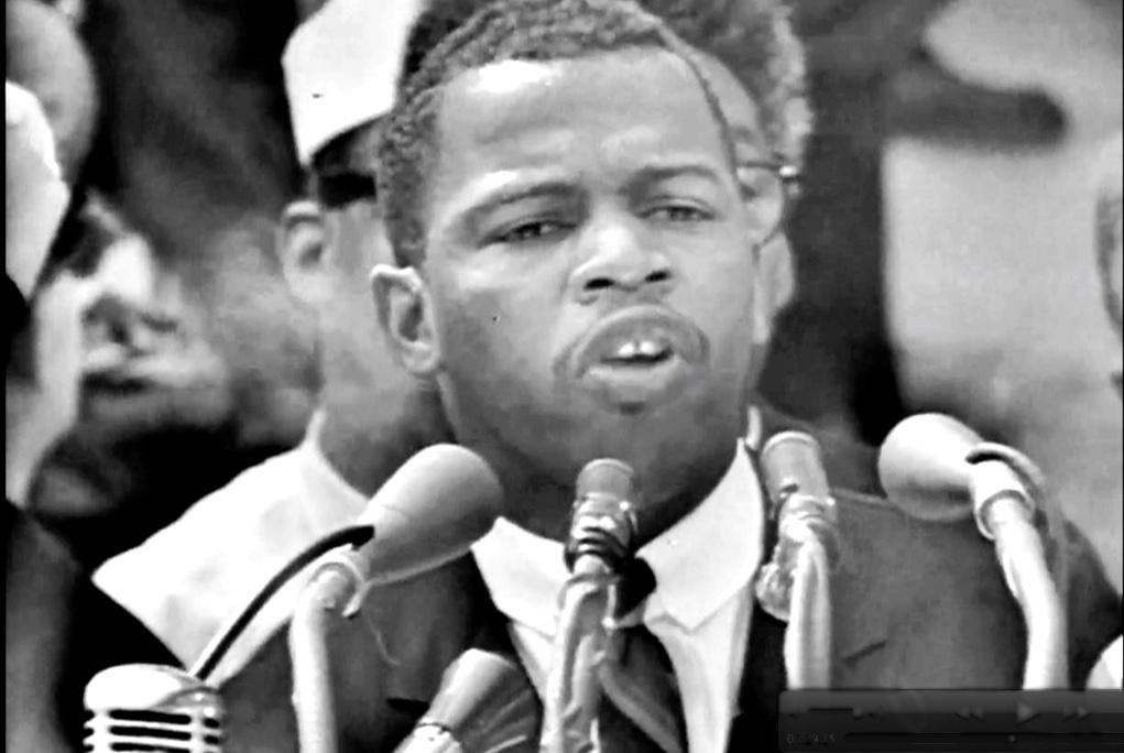 John-Lewis-speaks-at-March-on-Washington-082863, John Lewis' militant speech at the March on Washington, National News & Views