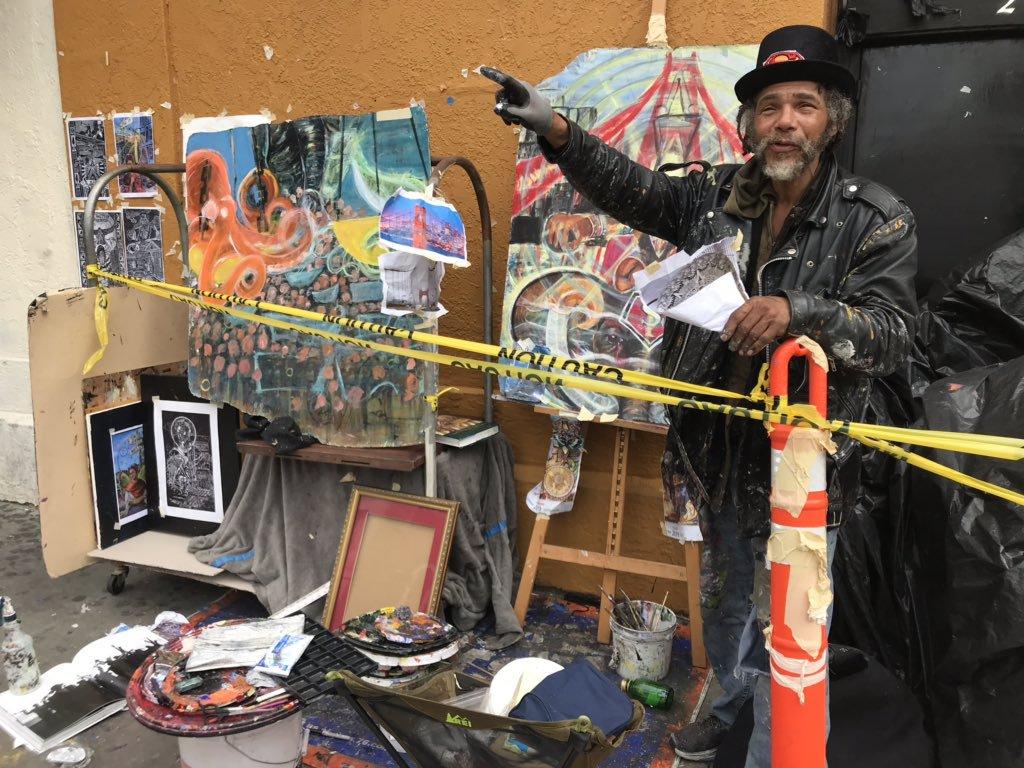 Muralist-Ronnie-Goodman-makes-city-his-studio-052519-by-PNN, Ronnie Goodman 1960-2020, Culture Currents