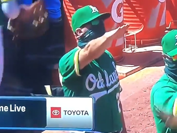 Oakland-As-Bench-Coach-Ryan-Christenson-gives-Nazi-salute-twice-080620, Oakland Councilwoman McElhaney addresses defunding the police and Oakland A's coach's Nazi salute, Local News & Views