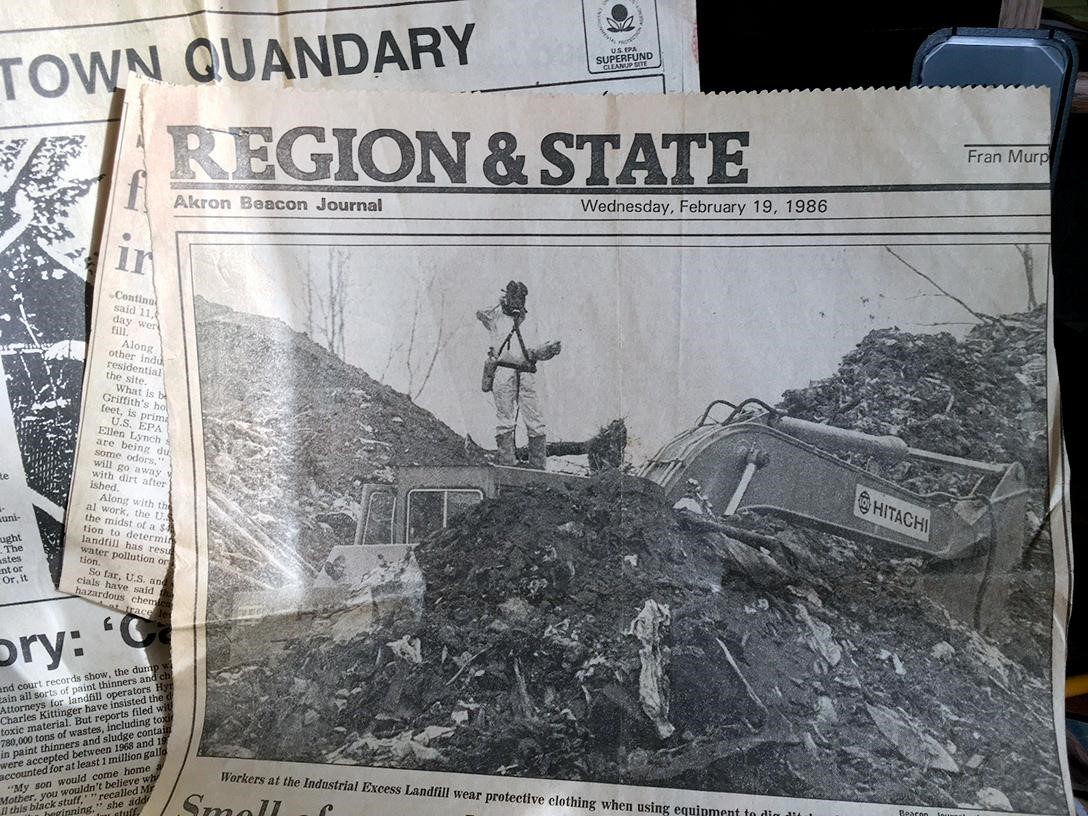 Worker-in-hazmat-suit-at-Industrial-Excess-Landfill-in-1986-Akron-Beacon-Journal, 2020 hindsight brings corrupted radiation testing into focus at the EPA – Part 2, National News & Views