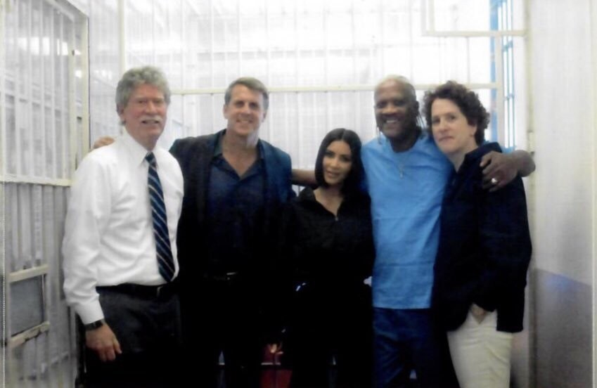Kevin-Cooper-embraces-his-attorney-Norman-Hile-advocate-Kim-Kardashian-West-more-053019, Kevin Cooper: Surviving Death Row and COVID-19 in San Quentin, Behind Enemy Lines