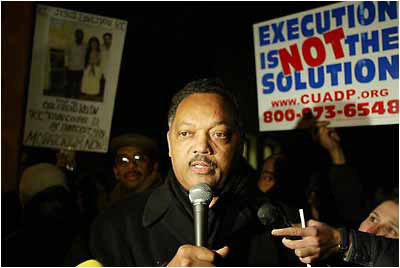 Rev.-Jesse-Jackson-opposes-Kevin-Coopers-execution-scheduled-midnight-021003-at-San-Quentin-vigil-020903-by-Ross-Cameron-AP, Kevin Cooper: Surviving Death Row and COVID-19 in San Quentin, Behind Enemy Lines