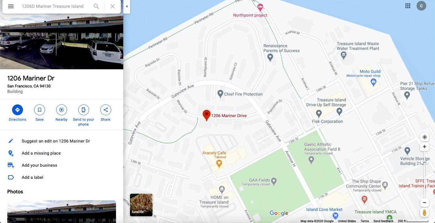 Treasure-Island-1206D-Mariner-Drive-by-Google-maps-1400x717, Former Treasure Island resident announces hospitalization for coronavirus, implicating radioactive island dust, Local News & Views