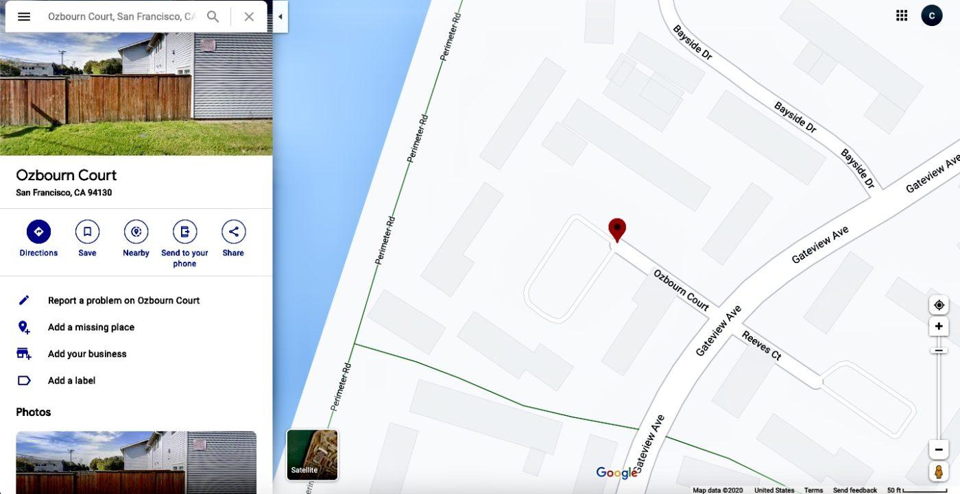 Treasure-Island-Ozbourn-Court-by-Google-maps-1400x721, Former Treasure Island resident announces hospitalization for coronavirus, implicating radioactive island dust, Local News & Views