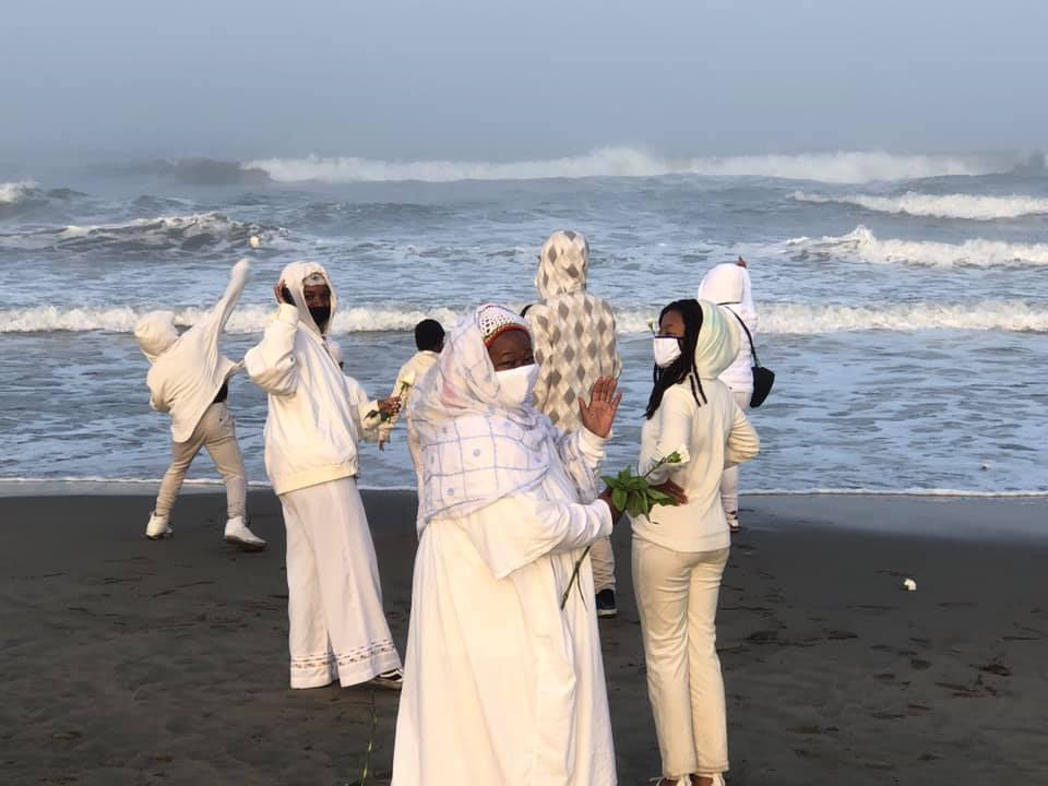 25th-MAAFA-Anniversary-at-the-ocean-Ocean-Beach-101120-by-Imhotep-Alkebulan, Reflections on the MAAFA, or Terrible Calamity, Culture Currents