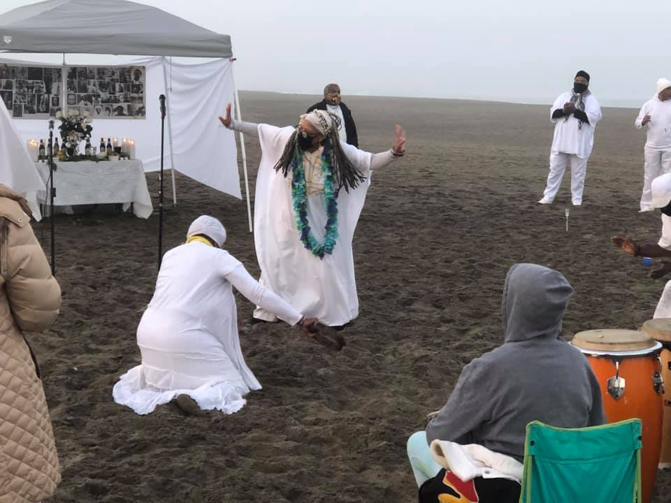25th-MAAFA-Anniversary-dancing-with-the-ancestors-Ocean-Beach-101120-by-Imhotep-Alkebulan, Reflections on the MAAFA, or Terrible Calamity, Culture Currents