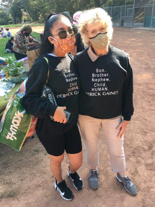African-American-Parents-Committee-of-the-South-San-Francisco-school-district-made-sweatshirts-for-Derrick-Gaines-birthday-party-092020, Students, friends and family honor Derrick Gaines on his birthday, Local News & Views