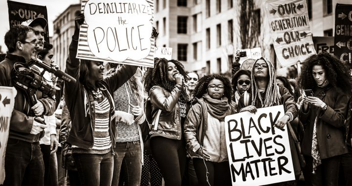 Black-Lives-Matter-demonstration-by-young-Black-people-bw, The master's greatest fear: Unity and community equals real change, Behind Enemy Lines