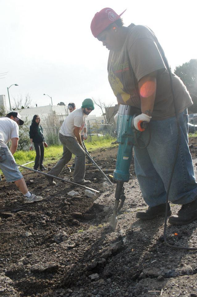 Building-Homefulness-Captain-jackhammering-2011, Encampment bans on stolen land, Local News & Views