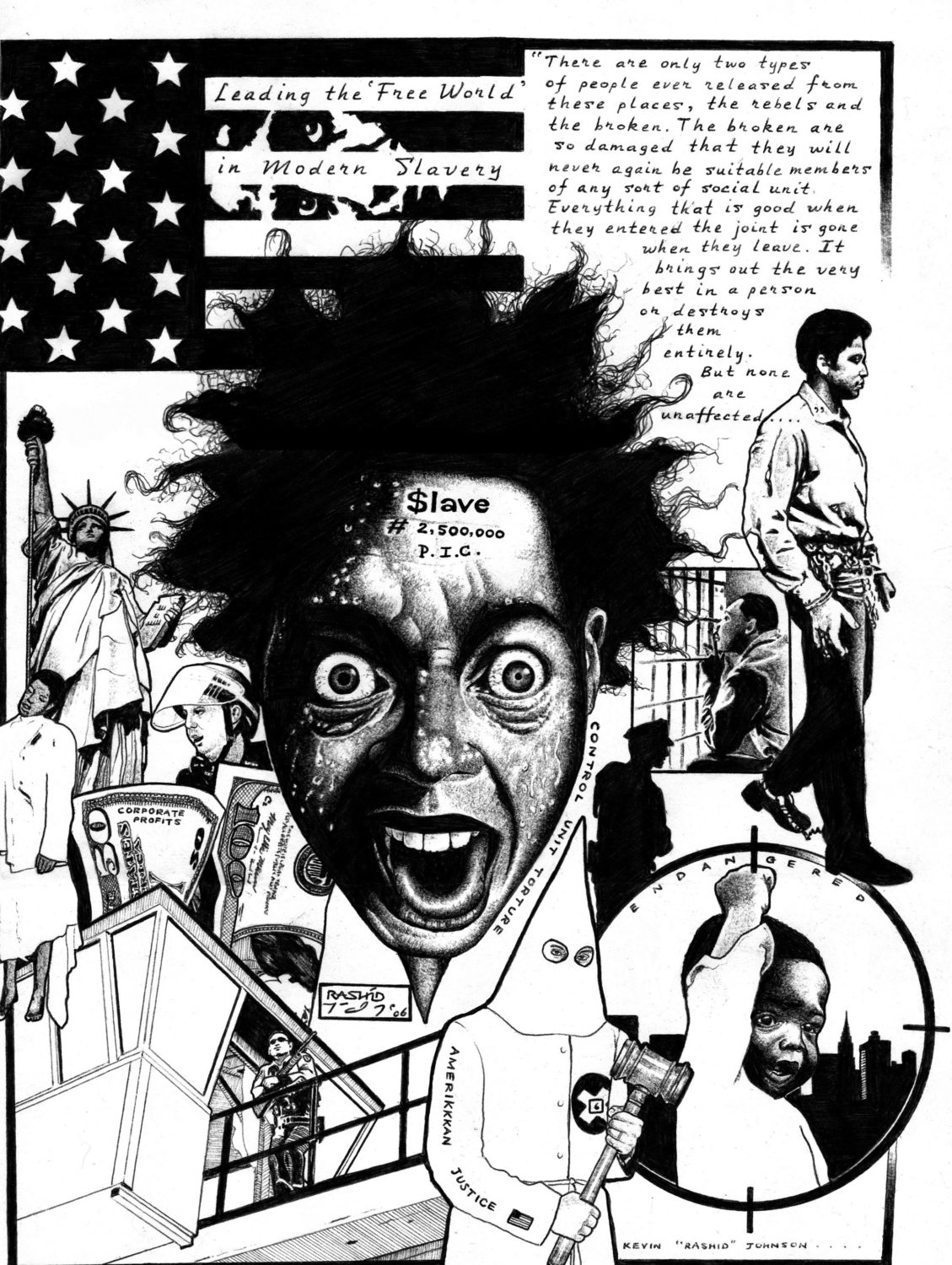 Control-Unit-Torture-art-by-Kevin-Rashid-Johnson, Military torture in Indiana prisons, Behind Enemy Lines