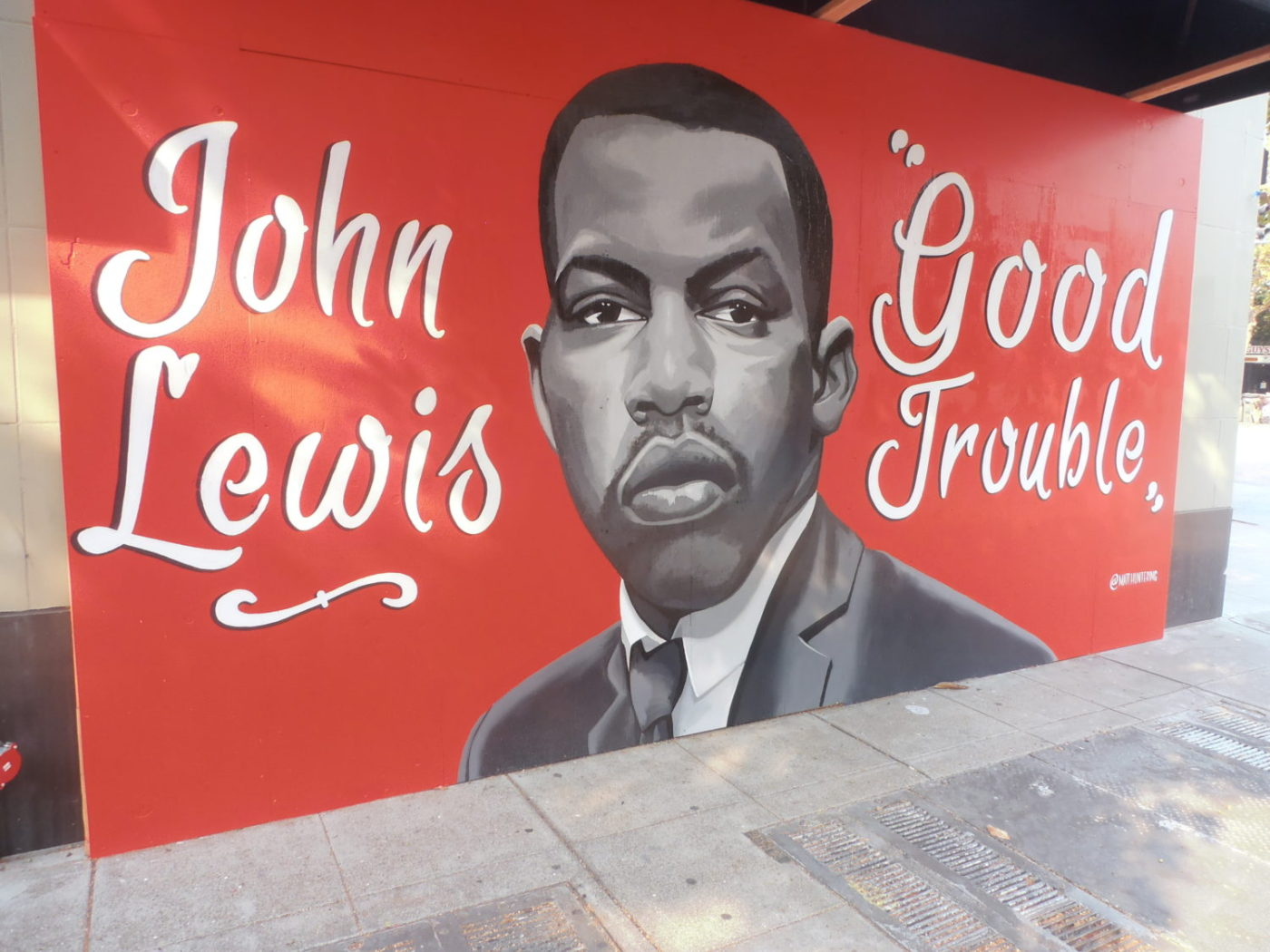 Good-Trouble-mural-for-John-Lewis-in-Black-Arts-Movement-Business-District-by-Baba-Jahahara-1400x1050, Finally! Baba Jalil will be freed!, Culture Currents