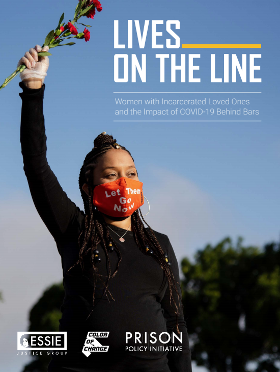 Lives-on-the-Line-report-by-Essie-Color-of-Change-PPI-0920-cover, New report states only 7 percent of people with incarcerated loved ones say their loved one had access to soap, other basic necessities to stop spread of COVID-19, Behind Enemy Lines