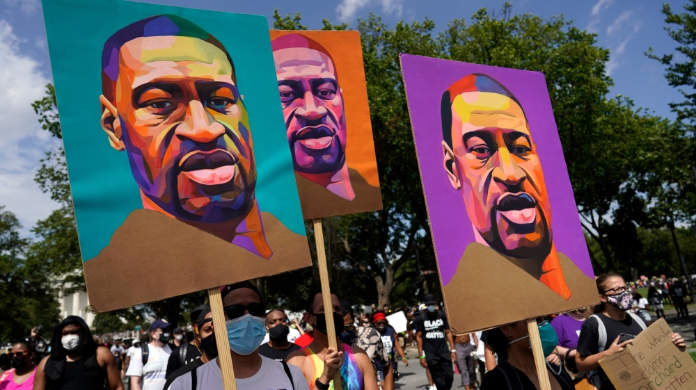 Three-George-Floyd-painting-posters-at-March-on-Washington-082820-by-Carolyn-Kaster-AP, Faultlines of national oppression and class contradictions, Behind Enemy Lines