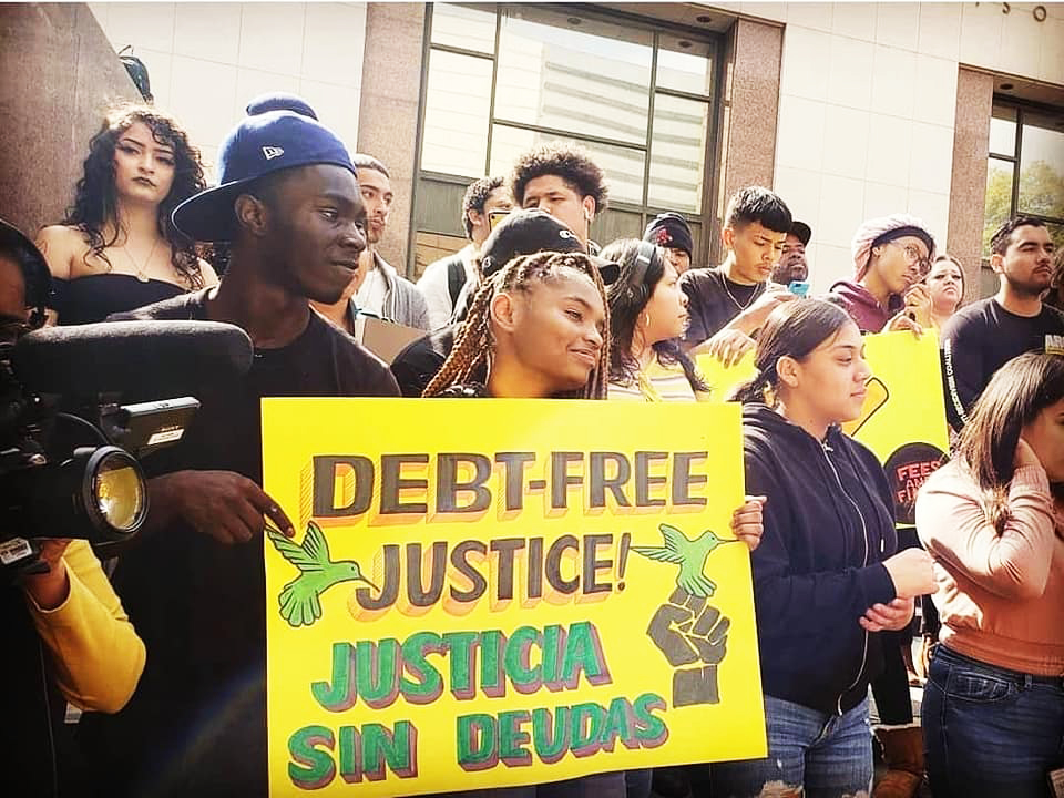 Youth-Justice-Coalition-in-LA-rallies-for-Debt-Free-Justice, California becomes the first state in the nation to end collection of fees in the criminal legal system, Local News & Views