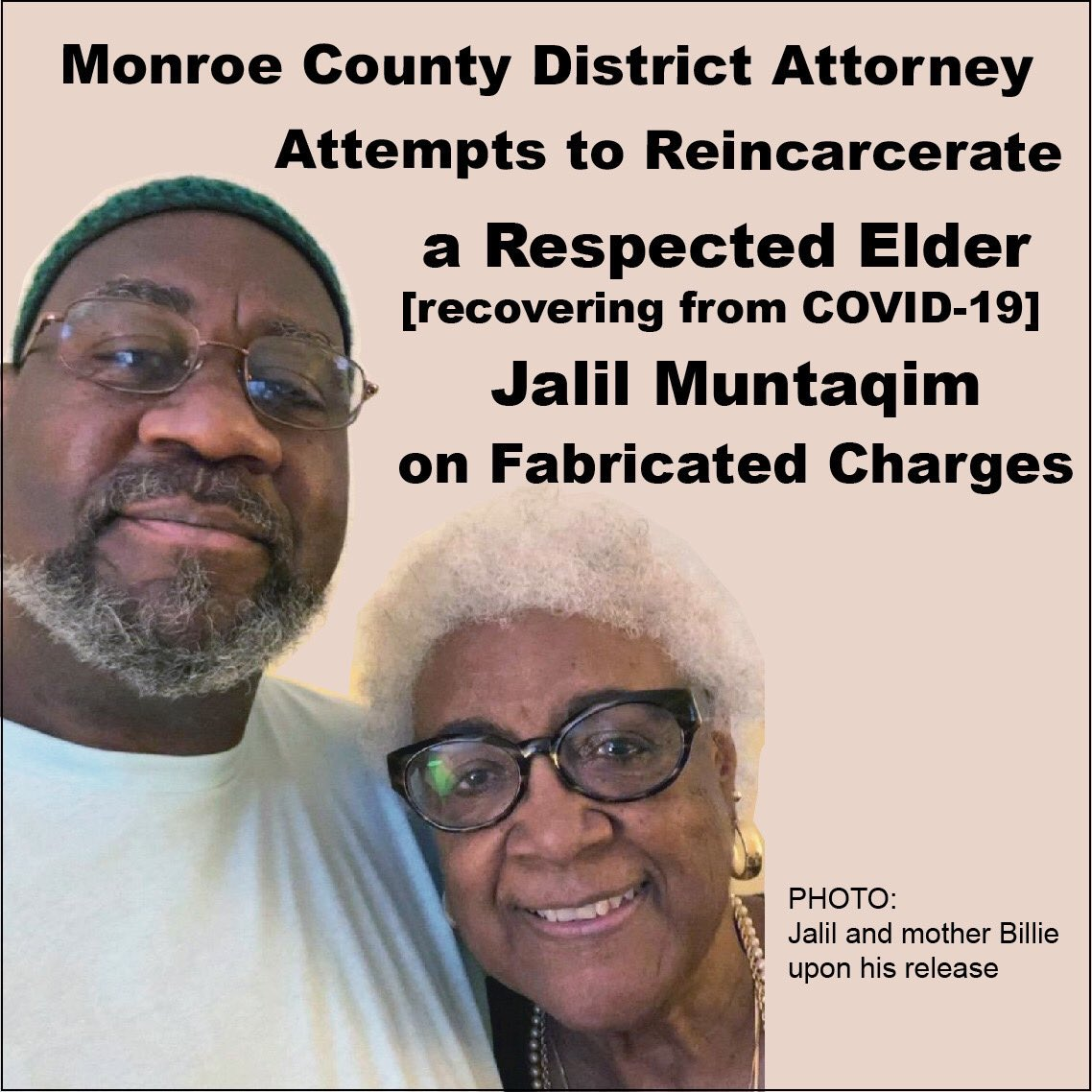 20201031_144243, Jalil Muntaqim, recently paroled after 49 years, was arrested Friday and is facing re-imprisonment for completing a voter registration form, National News & Views