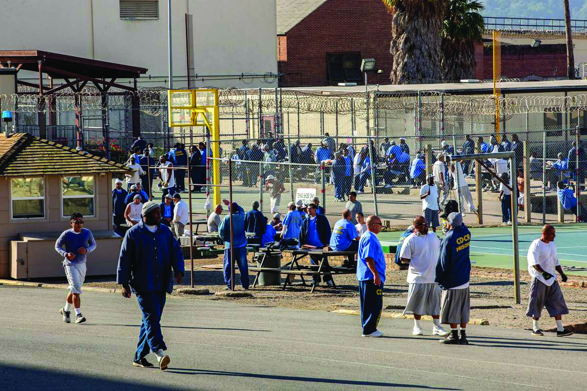 San-Quentin-yard-during-marathon-112219-by-Santiago-Mejia-SF-Chron, Release – don't transfer – 50,000 medically vulnerable people from California prisons, Behind Enemy Lines