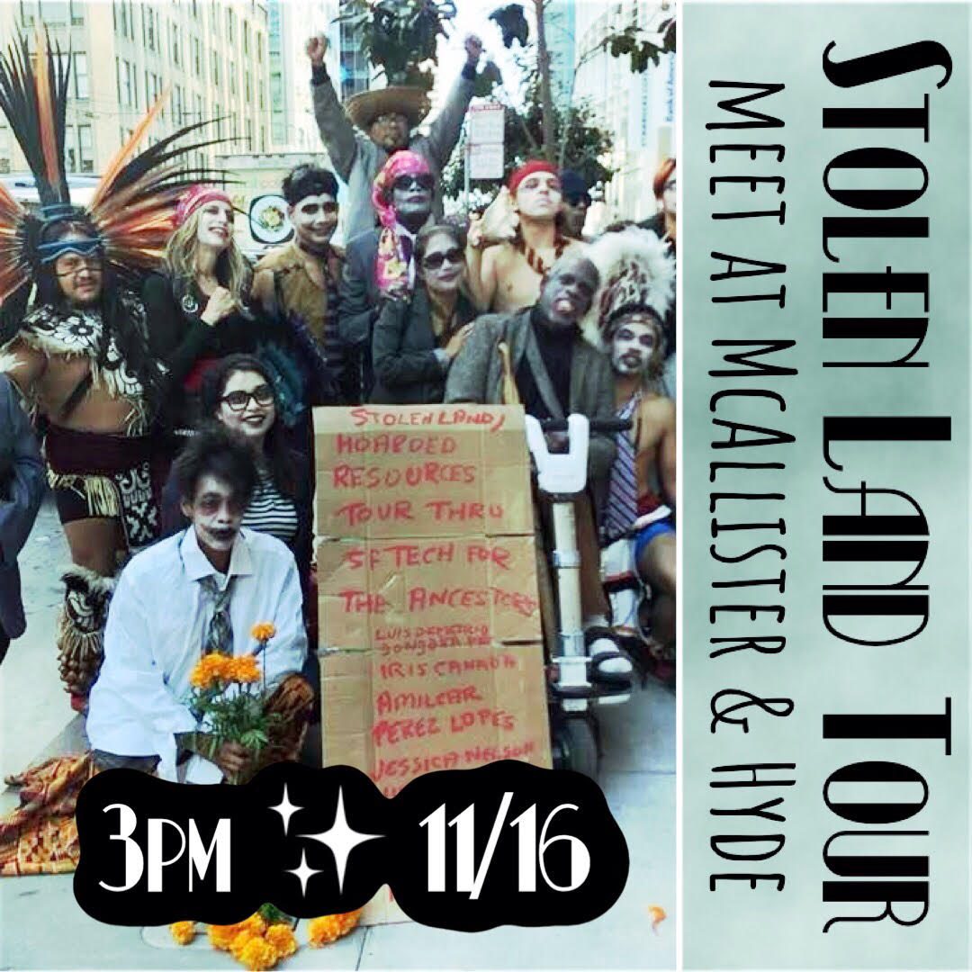 Stolen-Land-Tour-flier-111620-by-POOR, POOR 'tours' the Tenderloin demanding housing and reparations for 500 houseless San Franciscans facing motel evictions, Local News & Views