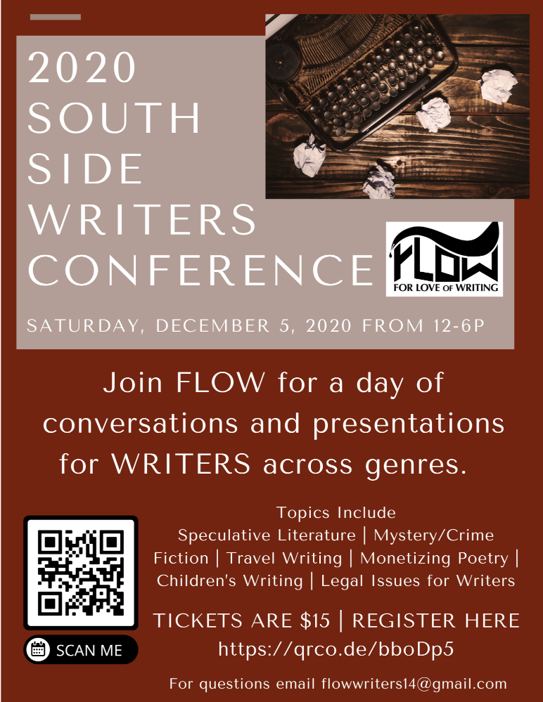 2020-South-Side-Writers-Conference-120520-flier, Wanda's Picks for December 2020, Culture Currents