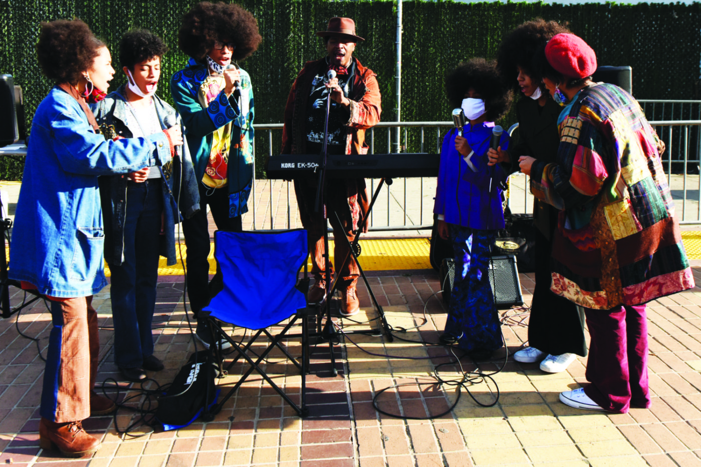 Celebrating-Bayview-Hunters-Point-Community-Curtis-Family-Cnotes-Mendell-Plaza-112120-by-Johnnie-Burrell-1400x933, City's dynamic 'First Family of Song' brings tunes to COVID-19 testing site, Culture Currents