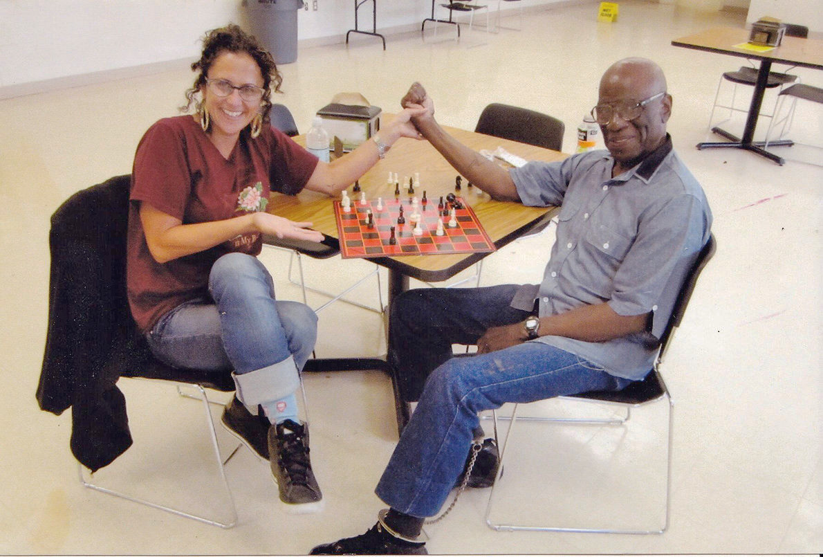 Jackie-Sumell-with-Herman-Wallace, Herman Wallace: Friend, artist and member of the Angola 3, Behind Enemy Lines