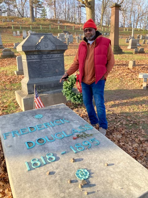 Jalil-Muntaqim-visits-Frederick-Douglass-grave-in-Rochester-NY-1120, Prison Lives Matter is a united front, Behind Enemy Lines