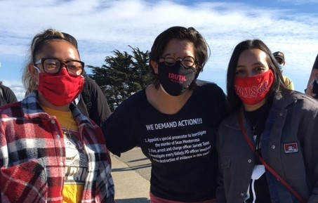 Maggie-Harrison-with-Sean-Monterrosa-Sisters, Open letter to Gov. Newsom: Hold police accountable and investigate the Vallejo police killing of Sean Monterrosa, Local News & Views