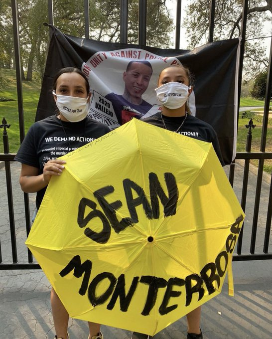 Monterrosa-sisters-at-Newsom-gate, Open letter to Gov. Newsom: Hold police accountable and investigate the Vallejo police killing of Sean Monterrosa, Local News & Views