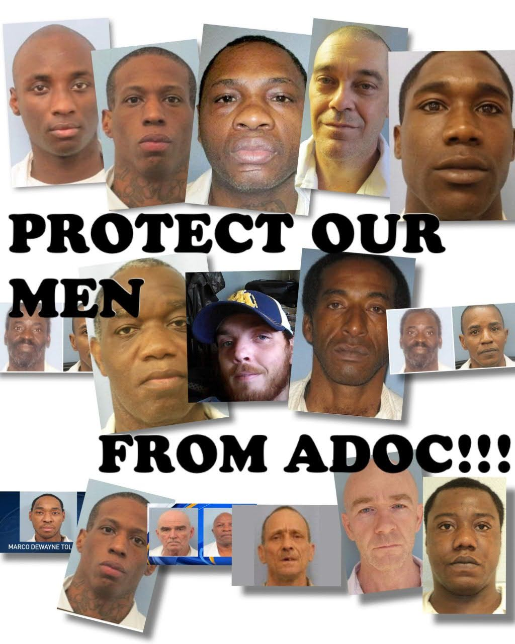 Protect-Our-Men-from-ADOC-poster-by-Free-Alabama-Movement, FAM launches #30-Day Economic Blackout, Behind Enemy Lines