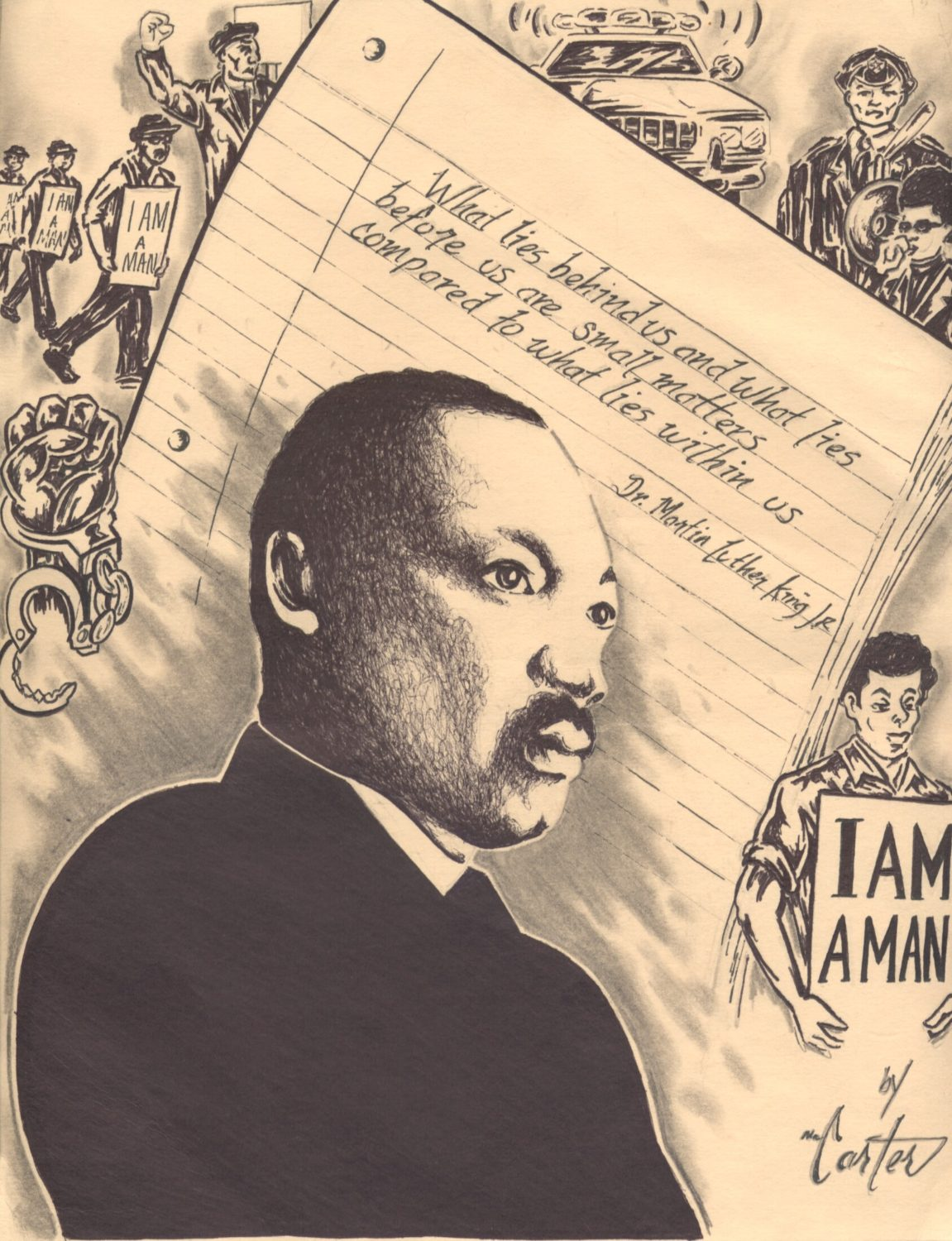 Dr.-Martin-Luther-King-Jr.-art-by-Billy-Carter-SFCJ-0720, I am a proud member of Dr. Martin Luther King Jr.'s International Association for Creative Maladjustment. I am writing about Treasure Island, Local News & Views