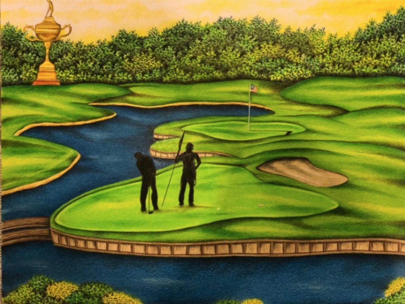 Golf-Dream-art-by-Valentino-Dixon-valentinodixon.com_-1400x1052, Tee time, Behind Enemy Lines