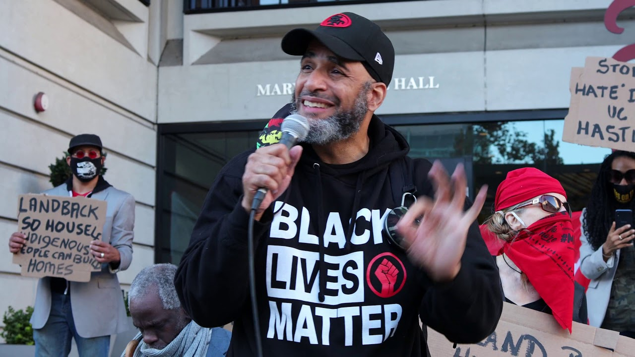 Malik-speaks-at-POORs-rally-protesting-UC-Hastings-homeless-harassment-1220, The battle to free San Francisco Bayview Editor Malik Washington, Local News & Views