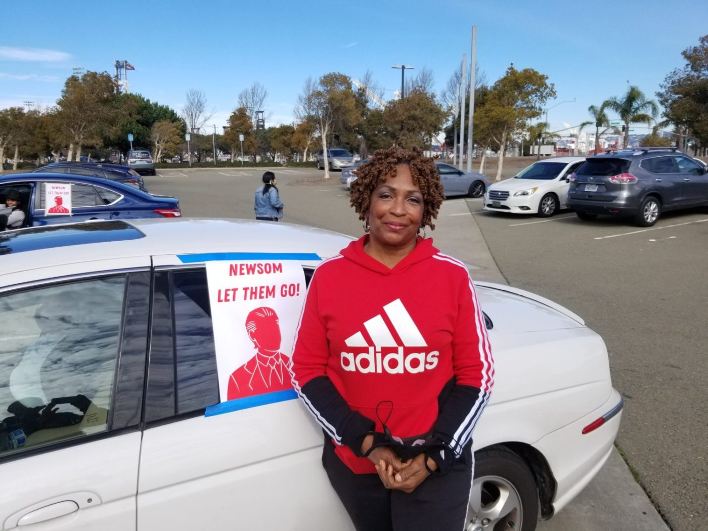 DeWayne-Ewings-wife-Sharon-Chatoo-Ewing-joined-car-caravan-demanding-Newsom-free-prisoners-013121-1400x1050, The found condom: A DeWayne Ewing mystery, Behind Enemy Lines